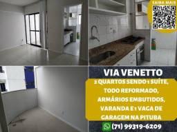 Título do anúncio: Via Venetto, 2 quartos, suíte, reformado, varanda em 62m² e 1 vaga na Pituba
