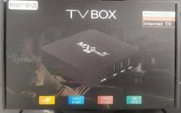 Título do anúncio: Tv Box MxQ 128GB 5G 4k Android Wi-fi Smart Tvh Hdmi , whats na descrição