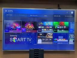 "Título do anúncio: Smart TV 4K LED 55"" SAMSUNG Modelo UN55MU6400GXZDB Game Mode 6 Series"