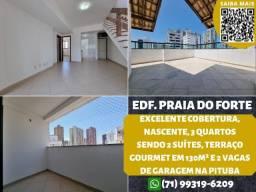Título do anúncio: Edifício Praia do Forte, cobertura, nascente, 3/4 sendo 2 suítes em 130m² na Pituba