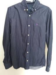 Camisa social masculina slim fit tamanho 2 (P)
