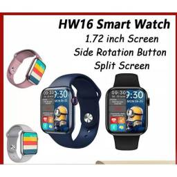 Hw16 44mm Smart Watch Series6 Tela Inteira Bluetooth Com Pulseira De Chamada / Música