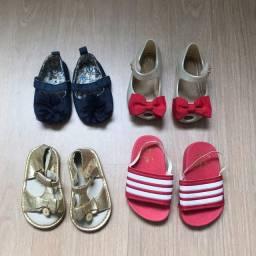 Título do anúncio: Lote sapato e sandália