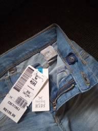 Título do anúncio: Calça jeans feminina infantil Hering nova