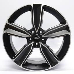 Título do anúncio: Jogo Roda Original Audi Rs5 Aro 20x8 Preta Diamantada 5x112 Et 45 Usada