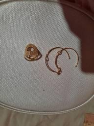 Brinco e anel Rommanel