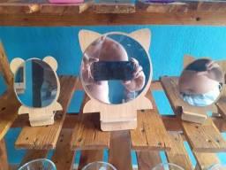 Título do anúncio: Espelho com estrutura de Bambu