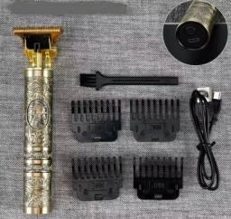 Título do anúncio: Máquina Cortar Aparar Barba Cabelo Metal Personalizada Usb Profissional