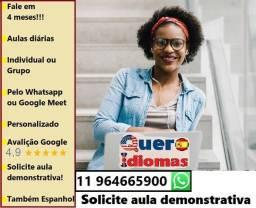 Título do anúncio: Fale inglês online, fale espanhol online.