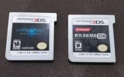 Título do anúncio: Resident Evil Revelations e Metal Gear Solid - Nintendo 3ds