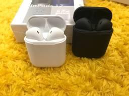 Fones de ouvidos via bluetooth (Airdots xiaomi ),i7 mini e i12
