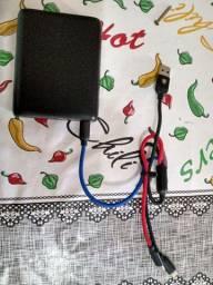 Carregador portátil cabo tipo C e iphone