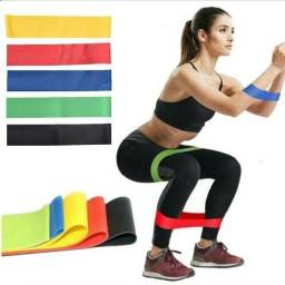 Título do anúncio: Kit 5 Faixas Elásticas band fitness Yoga exercícios