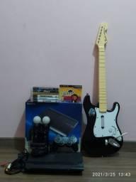 PS3 guitarra e kit move