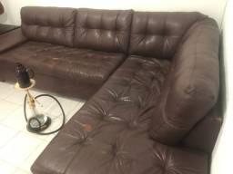 Sofá de couro usado