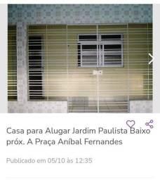Título do anúncio: Aluga-se casa em Jd Paulista Baixo