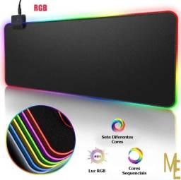 Título do anúncio: Mouse Pad Gamer Led RGB Colorido Extra Grande Exbom 800 X 300 X 4MM Emborrachado