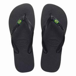Chinelo Masculino Havaianas Brasil Preta Sandálias Original