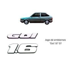 Título do anúncio: Jogo De Emblemas Gol 1.6 G1 Quadrado (1991-1996)