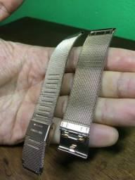 Pulseira Milanese 20mm Aço Inoxidável para Smartwatch. Gold Rose