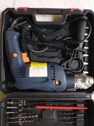 Furadeira Siga Tools,800w,Com Maleta e Acessórios,Martelete, impacto,NOVA/ACEITO TROCAS
