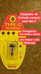 Adaptador v8 para tipo C