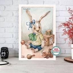 Placa Decorativa coelhinho ,- Tam:A4