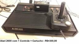 Atari 2600 com 1 Controle