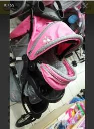 Carrinho de Bebê com Bebê Conforto 3 Rodas