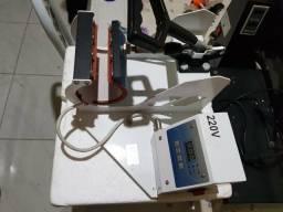 Máquinas de estampar camisa e caneca
