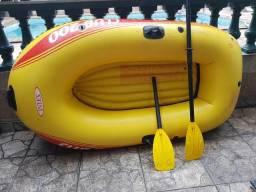 Bote inflável pra 2 pessoas intex