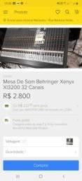 Vendo mesa Behringer xi3200 32canais 2200.00