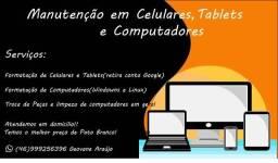 Manutenção em computadores e celulares