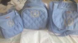 Kit bolsa maternidade/ kit berço/ sling