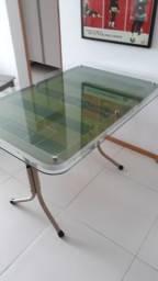 Mesa de vidro - Estilo Futebol