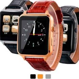 Relogio Smart Watch X7 Luxo Exclusive Couro Bluetooth Chip