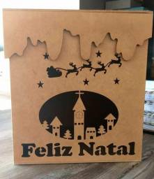 Caixa Feliz Natal MDF