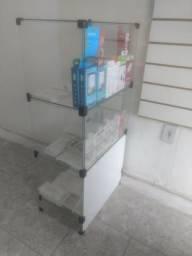 Balcão de vidro 3 partes