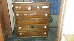 Cômoda e armário de cozinha de madeira pura