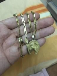 Cordao banhado a ouro