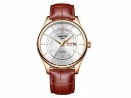 Relógio Nibosi Masculino pulseira de couro