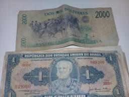Vendo cedulas antigas do brasil e de outros paises