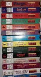 Filmes diversos da Videoteca Folha em VHS