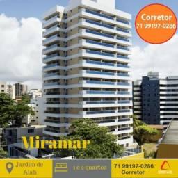 Miramar Residencial, 2 suites com varandão, 76m², nascente, Vista Mar