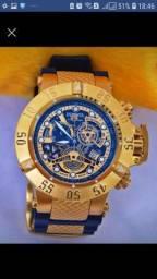 Relógio invicta noma 3 série ouro