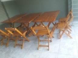 Mesas e cadeirasdobraveis