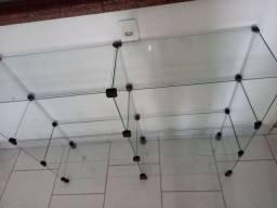 Balcão de vidro 1,20 x 1,00 x 30