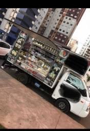Food truck HR Loja movel com prateleiras em inox.