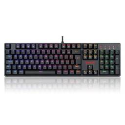 Teclado Mecânico Redragon Gamer Surara Pro RGB Switch Red/Brown - Loja Fgtec Informática