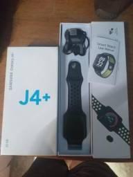 Troco esse j4+ e esse relógio por um iPhone 7 Plus ou iPhone 6